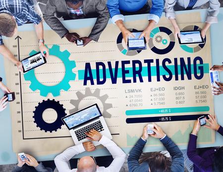 コンセプトをブランディング広告広告を広告します。 写真素材