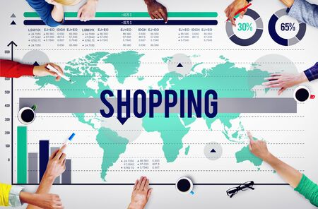 buying: Shopping Buying Purchase Marketing Sale Concept