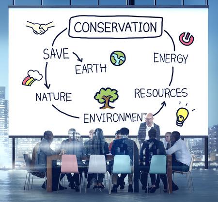 green environment: Conservation Environment Earth Ecology Concept Stock Photo
