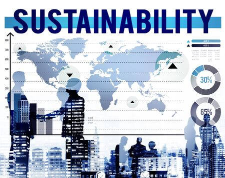 environmental conversation: Sustainability Environmental Conversation Resource Concept Stock Photo