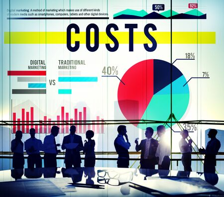 financial issues: Costs Budget Finance Financial Issues Business Concept