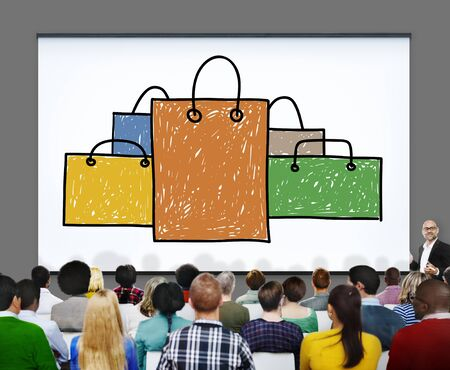 capitalismo: Shopping Bag Sale Capitalism Shopaholic Concept