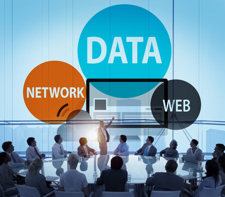 to data: Data Network Web Internet Connection Global Concept Stock Photo