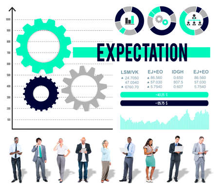 expectation: Expectation Prediction Future Goal Hope Concept Stock Photo