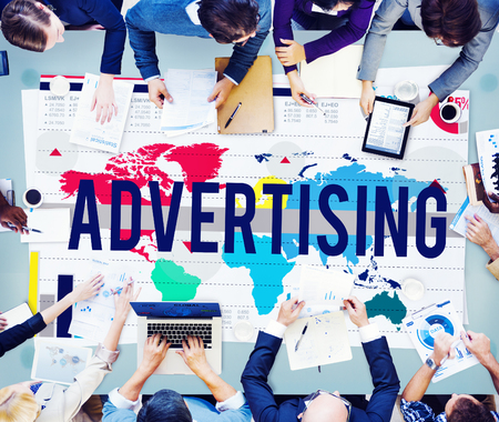 advertising media: Advertising Marketing Campaign Business Commercial Concept Stock Photo