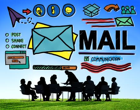 desk work: Mail Message Inbox Letter Communication Concept