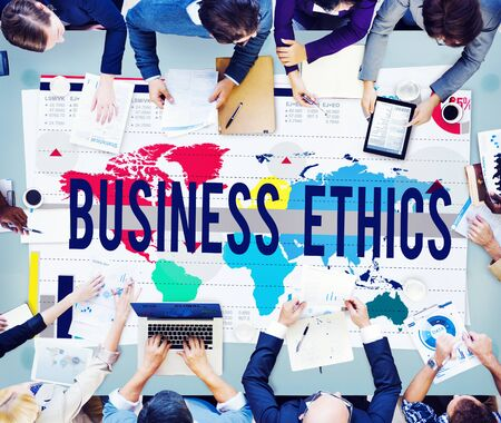 business ethics: Business Ethics Moral Responsibility Business Concept Stock Photo