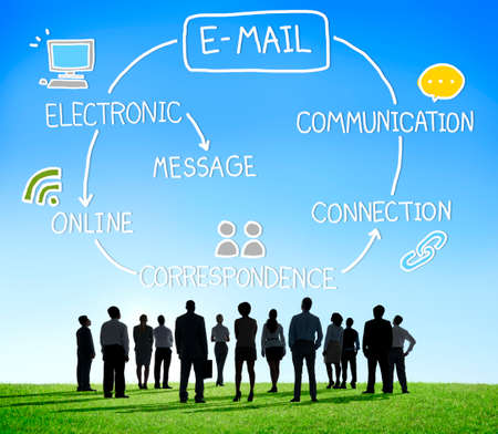 team business: Email Data Content Internet Communication Messaging Concept
