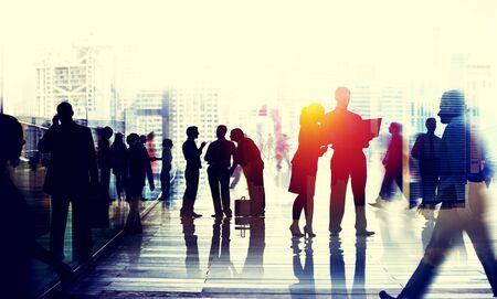 team building: Business People Talking Connection Conversation Concept