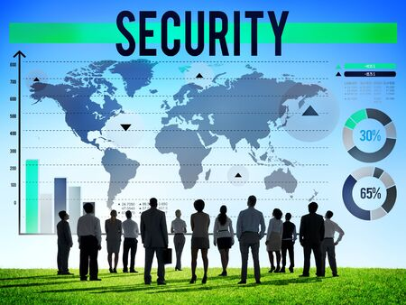 security protection: Security Protection Privacy Policy Confidentiality Concept