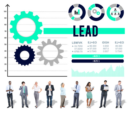 autoridad: Lead Authority Leadership Management Leading Concept Foto de archivo