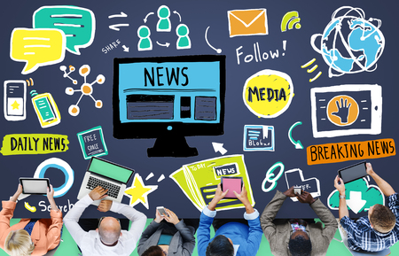 breaking news: News Article Advertisement Publication Media Journalism Concept
