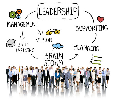 Leader Leadership supporting Management Vision Concept Stock Photo