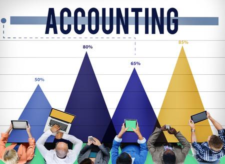 accounting: Contabilidad Banca Financiera Economía de Marketing Concept