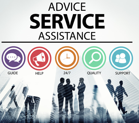 support: Advice Service Assistance Customer Care Support Concept Stock Photo