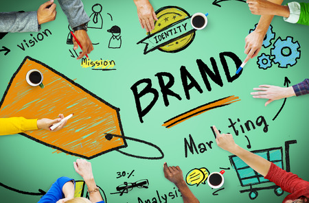 Brand Branding Marketing Commercieel Naam Concept