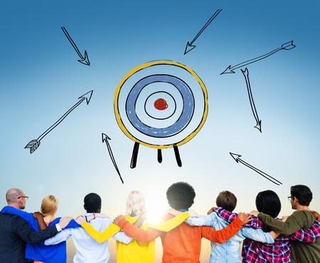 目標ターゲット成功吸引目的インスピレーション コンセプト
