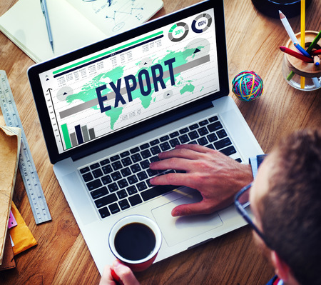 international shipping: Export International Shipping Logistics Transfer Concept