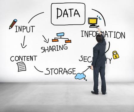 Analyse des données de stockage d'information Concept Banque d'images - 42779182
