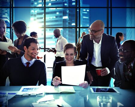 sales occupation: Business People Corporate Meeting Board Room Concept Stock Photo