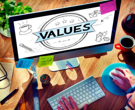 goedheid: Values Goodness Worth Promotion Quality Concept Stockfoto
