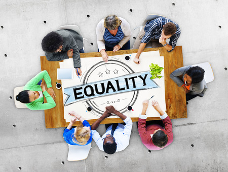 discrimination: Equality Balance Discrimination Equal Moral Concept Stock Photo