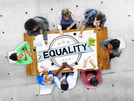 Gelijkheid Balance Discriminatie Gelijke Moral Concept
