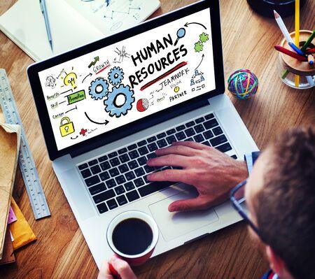 recursos humanos: Recursos Humanos Empleo Trabajo en equipo, concepto de trabajo de oficina