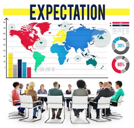 expectation: Expectation Hope Expecting Prediction Assumption Concept Stock Photo