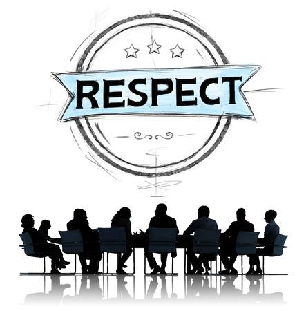 존경 정직 존경하는 시선 무결성 개념