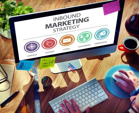 Inbound Marketing Strategy Advertisement Commercial Branding Concept Standard-Bild