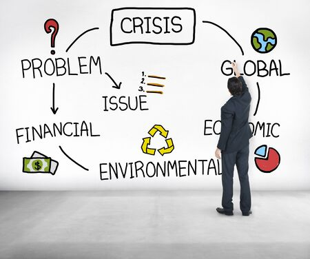 corporate finance: Crisis Economic Environmental Finance Global Concept