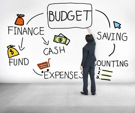 to cash: Presupuesto del Fondo Efectivo Finanzas concepto ahorro de Contabilidad Foto de archivo