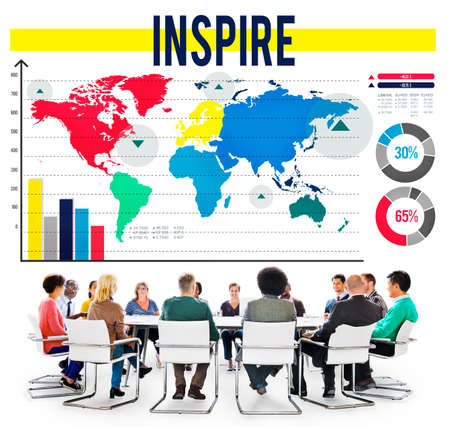 hopeful: Inspire Inspiration Motivate Goal Hopeful Concept Stock Photo