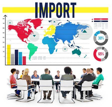 international shipping: Import International Shipping Logistics Merchandise Concept