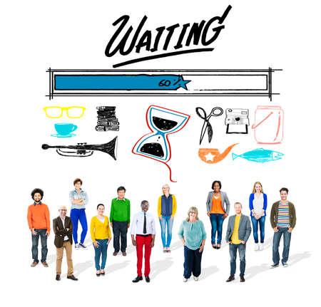 downloading: Waiting Loading Uploading Downloading Progress Concept