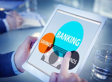 Banking spaarfondsenwet Planning Financiën geld Concept Stockfoto - 42787072