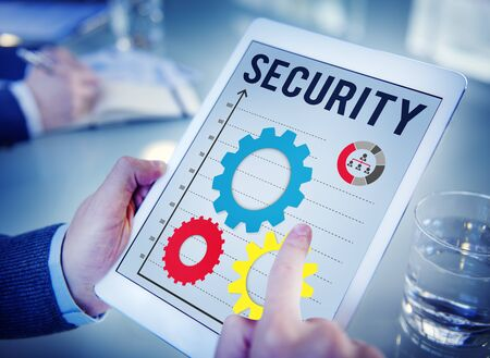 security protection: Security Protection Privacy Policy Password Concept