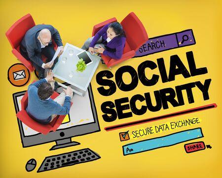 s�curit� sociale: Social Security Welfare Retirement Payment Concept