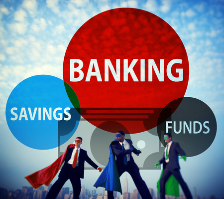 action fund: Banking Savings Funds Planning Finance Money Concept