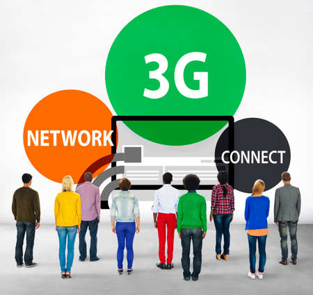 facing backwards: 3G Networking Technology Innovation Connection Concept