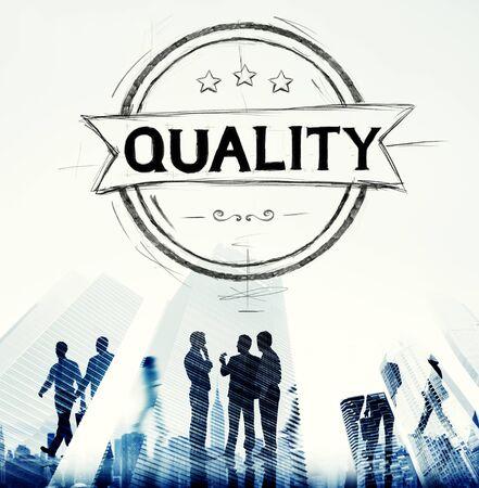 Quality Satisfaction Grade Guarantee Rank Concept Stock Photo