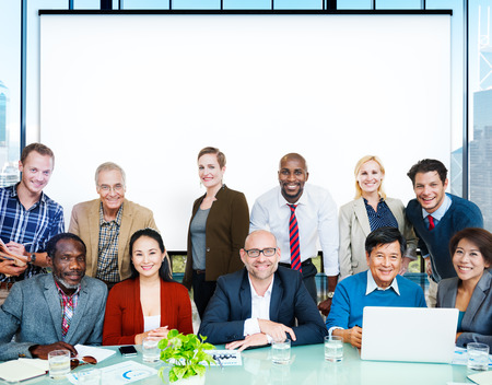 gente comunicandose: Gente de negocios cooperación Alegre Concepto