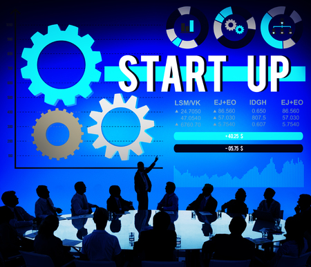 strategy meeting: Start up Business Mission Opportunity Goals Concept