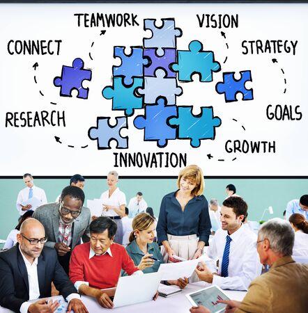 grupos de personas: Trabajo en equipo Colaboración en equipo Conexión Unidad Unión Concept