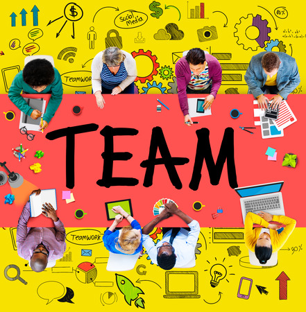 togetherness: Team Teamwork Support Collaboration Togetherness Help Concept