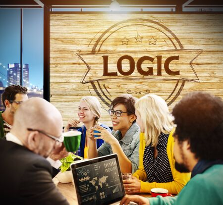 logic: Logic Lgical Reasonable Critical Thinking Concept Stock Photo