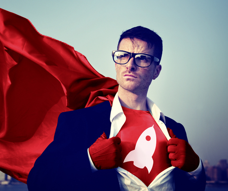 strong growth: Strong Superhero Businessman growth Concepts