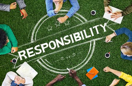 Responsibility Reliability Trust Liability Trustworthy Concept Reklamní fotografie