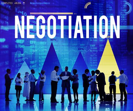compromise: Negotiation Compromise Contract Agreement Decision Concept